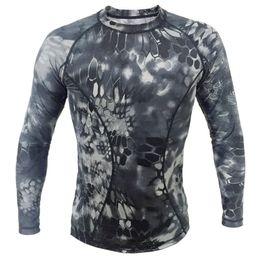 Magliette leggere online-Maglietta maniche lunghe T-shirt maniche lunghe con stampa aderente e maniche lunghe