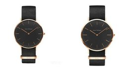 Wholesale Military Watches Strap - Classic Black watch Luxury Watch For Men Women Nylon Strap Military Quartz Wristwatch Clock