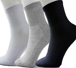 Wholesale Wholesale Black Mid Calf Socks - Wholesale-0.79  pair Men's Sock Short Summer Sport Cotton Net Socks Thin Mid-calf length sock