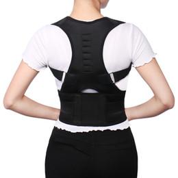 Cinturón de apoyo online-Regulable Postura Trasera Corrector Corsé Espalda Apoyo Brace Cinturón Hombro Lumbar Corrección Vendaje Ortesis Para Hombres Mujeres BG