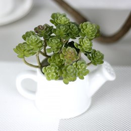 Wholesale Artificial Pvc - High-end simulation succulent houseplant PVC wall wedding home decoration artificial flowers potted plants Christmas decoration K16174