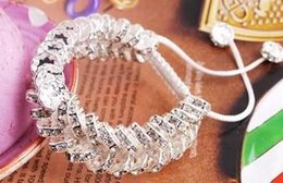 Wholesale Two Rows Beads Bracelets - New Style!10mm White Two Row best cheap Hot clay disco ball Beads Bangles hotslae Crystal Shamballa Bracelet women jewelry Christmas Gift