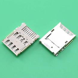 Sim steckverbinder online-Wholesale-Doppelschicht-SIM-Karten-Slot für Samsung Galaxy Mega 6.3 I9200 I9205 I9208 Leser-Halter-Fach-Verbindungsstück-Sockel Solt Double Layer
