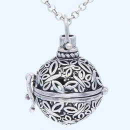 Wholesale Brass Locket Chain - 10pcs lot Antique Silver Copper Charms Butterfly Floating Locket Pendant Chain Necklace For Essential Oil Aromatherapy Diffuser Jewelry