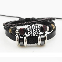 Wholesale Korean Woven Jewelry - New hot Korean bracelets for women retro hand-woven leather multilayer bracelets unisex adjusted jewelry free shipping