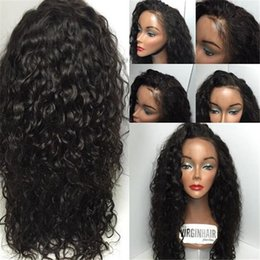 Wholesale Deep Wave Human Hair Wigs - 8a Glueless Lace Front Human Hair Wigs Unprocessed Full Lace Wig Peruvian Loose Deep Lace Front Wigs Black Women