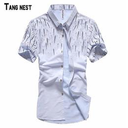 Wholesale Linen Shirt Colors - Wholesale-Men's Summer Casual Shirts 2016 New Fashion Men Loose Print Fashion Short-sleeved Shirts Male Casual Shirt 3 Colors M-3XL