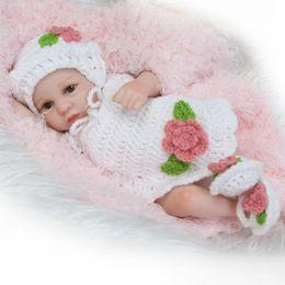 Wholesale lifelike women dolls - 10inch Lifelike Newborn Baby Dolls Realistic Full Vinyl Bonecas Bebe Reborn De Silicone Toys Babies Shower Gift for Women