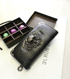 Wholesale Ladies Card Holder Cases - 2016 Cool Punk Women Wallet Purse Long Handbag PU Leather Girl Lady Clutch Wallets Purses Ladies Phone Case