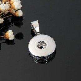 Wholesale Sports Necklace For Free - 18mm Noosa Snap Button charms Pendant for Necklace bracelets DIY Jewelry Accessory Interchangeable Ginger Snap free shipping