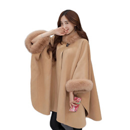 Wholesale Vintage Wool Coat Fur Collar - Layo 2017 Winter Coat Women Hooded Fake Fur Coats Plus Size Vintage Artificial Faux Fox Fur Coat With Hood Big Size