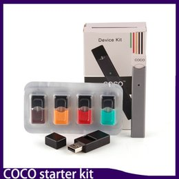 Wholesale Wholesale Pens Free Shipping - New Arriveal COCO SMOKING PEN Ultra Portable Vape Pen Starter Kit for JUUL VII Vapor pod Cartridge free shipping by DHL 0268066