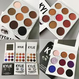 Wholesale Burgundy Metallic - 3 Style Kylie Jenner Eyeshadow Kyshadow 9colors Pressed Powder Eye Shadow the Bronze Palette + Burgundy + Purple Palette Kylie Cosmetics