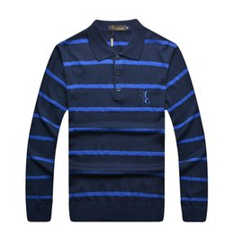 Wholesale Billionaire Italian Couture - Wholesale-Billionaire italian couture sweater men's clothing handsome turn collar stripe business casual looking nice free shipping