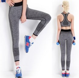 Wholesale Hot Workout Clothes - Wholesale-2016 Hot Selling Women Yoga Clothing Sports Pants Legging Tights Workout Sport Fitness Bodybuilding And Clothes Running Leggings