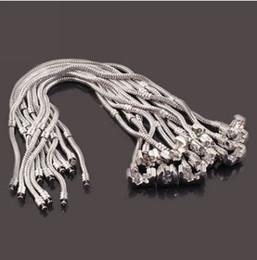 Wholesale Wholesale Base Plates - In 2017 925 silver chain snake chain bracelet classic Pandora jadoku chain bracelet jewelry based DIY