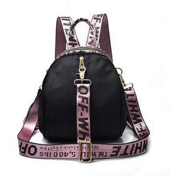 Sac à dos en ruban rose, sac à dos, lettre rose, sac de voyage imperméable gris noir, cartable pour adolescente ? partir de fabricateur