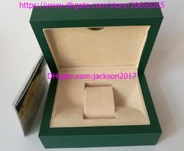 Wholesale Paper Bag Tags - luxury new style Watch Box Green Brand Original Box Papers Gift Watches Boxes Leather bag For 116610 116040 116660 116710 Watch MEN WOMEN