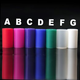 Wholesale Electronic Cigarette Rubber Tip Disposables - Silicone Drip Tip Disposable Colorful Rubber Test Tips Cap for eGo CE4 CE5 CE6 Clearomizer E Cig Electronic Cigarette