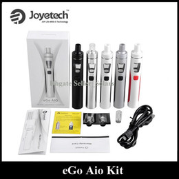 Wholesale Ego Starter Led - Authentic Joyetech EGO Aio Kit 1500mAh Quick Start Vaporizer Kit All in One Starter Kit 0.6ohm with Colorful LED