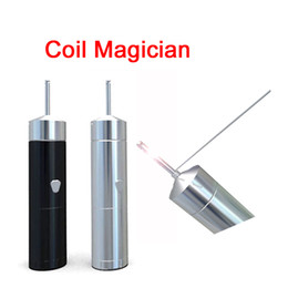 Wholesale Rolled Coils - New PilotVape Coil Magician Electrical Coil Jig Tool Heat Wire Rolling Automatically Coil Jig for RDA RTA with 4 coiling poles DHL FJ706