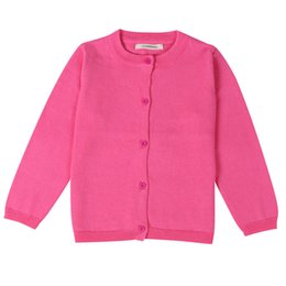 Wholesale Cardigans For Boys 3t - Spring Autumn Boys Girls Cardigans Sweater Cotton Outwear Knit Cardigan Long Sleeve Sweaters for Baby Girls Clothes