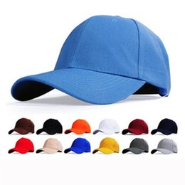 Wholesale Advertising Caps - 2016 Limited New Arrival Ball Cap Multi Unisex Spring & Fall Polyester Working Cap Advertising Spot Thickening Pure Color Blank Hat Baseball