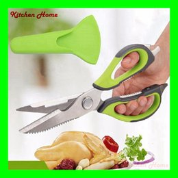 Wholesale Fishing Multi Tool - Multi-functional Stainless steel kitchen scissors poultry shears chicken bone fish scissors kitchen Accessories gadgets cooking tools