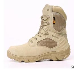 Invierno militar botas de cuero hombres online-2017 Invierno Otoño Hombres Botas Militares de Calidad Especial de la Fuerza Tactical Desierto de Combate de Tobillo Zapatos de Trabajo del Ejército Zapatos de Cuero Botas de Nieve