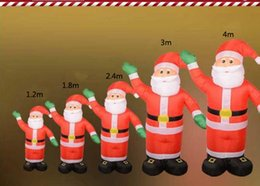 Wholesale Santa Christmas Yard - Christmas Inflatable Santa Claus With Green Hand 5 Sizes Available Yard Garden Decoration