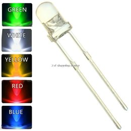 Wholesale Green Diodes - Wholesale-250pcs lot 5 Colors F5 5MM Round LED Assortment Kit Ultra Bright Water Clear Green Yellow Blue White Red Light Emitting Diode