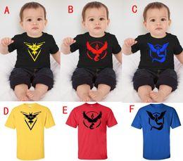 Wholesale Turtle Shirts Wholesalers - Pocket Monster T Shirts Baby Poke Pattern Vest Pikachu Jeni turtle Charmander Squirtle Print Children T-shirts Free Shipping
