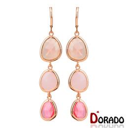 Wholesale Dangling Cross Earrings Rhinestones - Hot Sale Fresh Summer Style Brand New Fashion Jewelry Gold Long Resin Beads Drop Earrings Best FriendsGifts