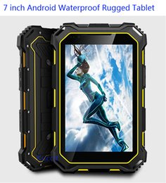 Wholesale Mini Tablet Quad - Wholesale-Cheapest Rugged tablet mini PC 7.0 inch MTK8382 Quad core 3G 7000mAH OTG Android IP68 shockproof waterproof call phones outdoor