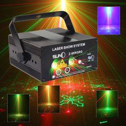 Wholesale Rg Laser - SUNY Remote 5 Lens 80 Pattern RG Mini Led Laser Projector 3W Blue Light Effect Show For DJ Disco Party Lights