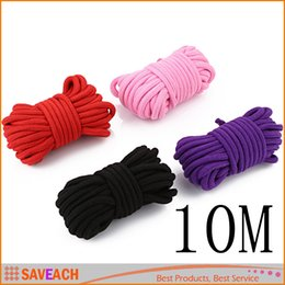 Wholesale Wholesale Adult Harnesses - 10m long thick cotton fetish sex restraint bondage rope body harness adult flirting game toys for couples women men
