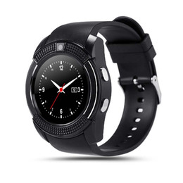 Wholesale Packaging Gsm - Bluetooth V8 Smart Watch SIM GSM Card Smart Watch Health Clock Fitness Bracelet Pedometer For Android Retail Package