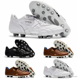 Wholesale Leather Kangaroo - 2018 original soccer cleats King Top M.I.I CHROME FG Kangaroo leather fg soccer shoes mens soft ground football boots cheap black
