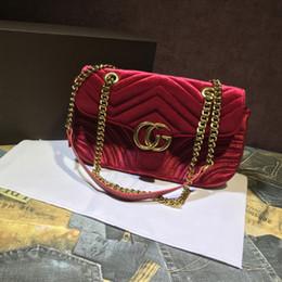 Wholesale Woven Crossbody Bag - Marmont shoulder bags women luxury brand Suede Velvet chain crossbody bag handbags famous dMarmont shouesigner purse high quality female bag