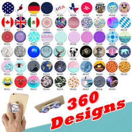 Wholesale Universal Grips - Wholesale Universal Cell Phone Holder with blue Package Expandable Grip Stand 360 Degree Finger Holder Flexible For iPhone Samsung