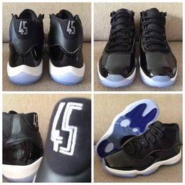 "Wholesale Mens Basketball Shoe Brand - Mens Retro 11 Space Jam ""45"" Basketball Shoes Brand X1 11s Bred 72-10 Velvet Heiress Concord Sport trainer Sneakers 8-13"