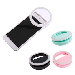 Wholesale Photography Mobile - Portable Universal Selfie Ring Flash Lamp Mobile Phone LED Fill Light Selfie Ring Flash Lighting Camera Photography for Iphone Samsung