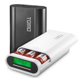 Wholesale V8 Portable Charger - TOMO V8-3 Intelligent Portable Display Power Bank Box 18650 Battery Charger 5V2A Powerbank Case Tomos For all smart phone
