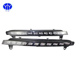 "Wholesale Audi Lowering Kits - ""2pcs LED Daytime Running Light Super Bright DRL Lamps Kit for AUDI Q7 low configuration 2006~2009 Daylight Fog Bulbs Waterproof"