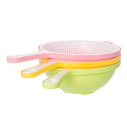 Wholesale Plastic Wash Sink - Kitchen Sink Basket Plastic Multi Function Vegetable Fruit Storage Baskets Double Layer Washing Kitchen Essential Tool 5 2nc J R