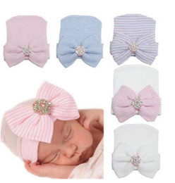Wholesale Caps For Infants - Newborn Baby Cute and Pretty Beanie Hat With Big Bow Baby Infant Girl Soft Warm Hospital Hat Cap for 0-3 Month