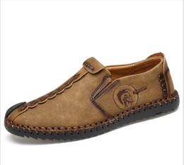 Calidad de la marca 2018 hombres cómodos mocasines hombres zapatos con cordones  zapatos de ocio sólido de los hombres zapatos casuales de cuero Freeshipping be6699d318b