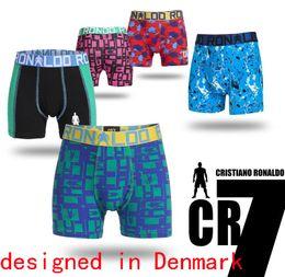 Wholesale Striped Panties - Denmark brand CR boys fun printed striped trunk boxers kids child panties cotton pants children underwear briefs size 4-15years 5pcs lot