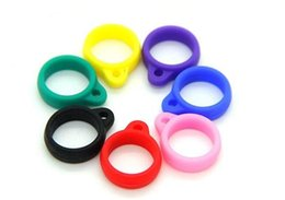 Wholesale Ego Ce Twist - E-cigarette ego silicone Lanyard Ring necklace ring For CE atomizer T3S T4 EVOD Atomizer Silicone Necklace Ring Fit eGo-t eGo-c twist