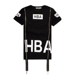 Wholesale X Men Long Sleeve T Shirt - 2016 Men Fashion Hip Hop T- Shirt Zipper Side HBA Hood By Air Harajuku t shirts for men Spinal Cord X-ray Streetwear Tees